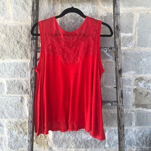 Free People Red Swing Tank